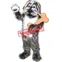 Friendly Shaggy Dog Mascot Costume