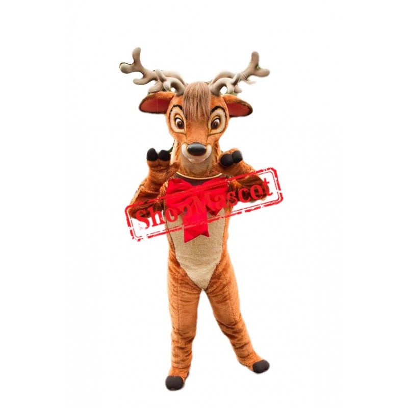 Friendly Realistic Deer Mascot Costume