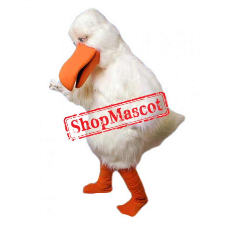 All White Bird Mascot Costume