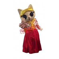 Lovely Big Eye Cat Mascot Costume