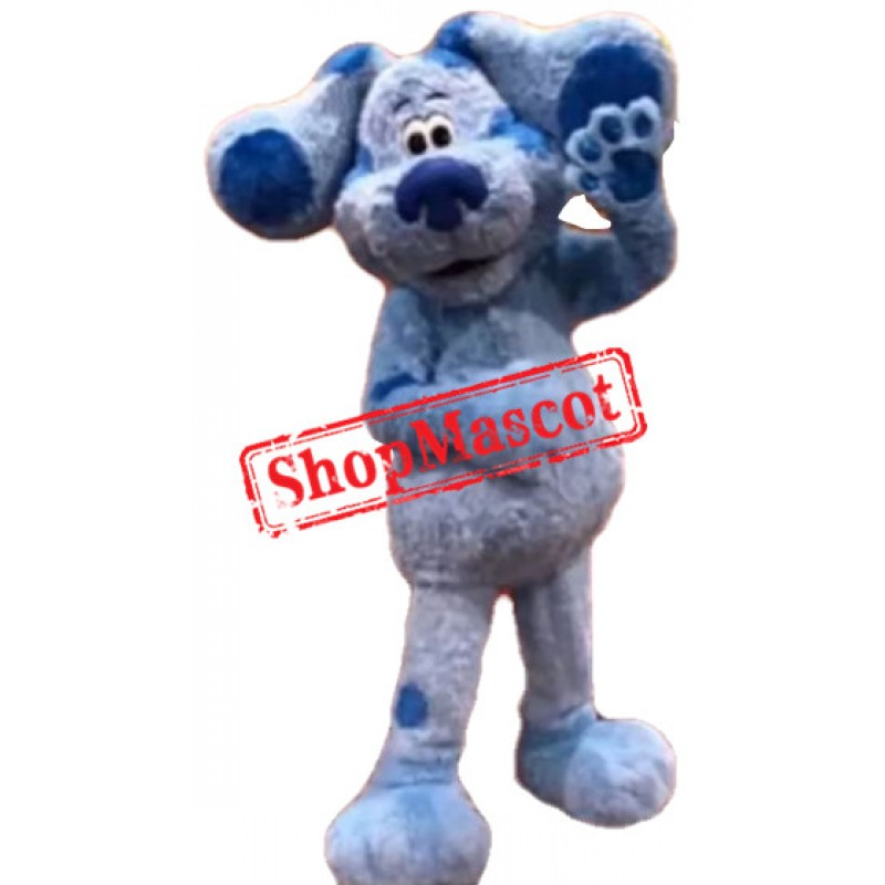Lovely Blue Dog Mascot Costume