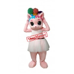 Lovely Pink Cat Mascot Costume