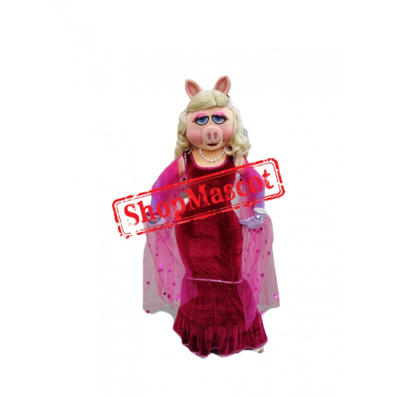 Fashion Miss Piggy Mascot Costume