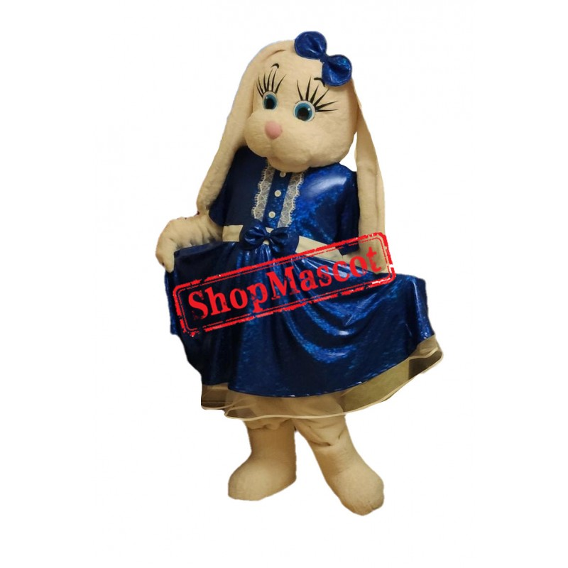 Beautiful White Bunny Mascot Costume