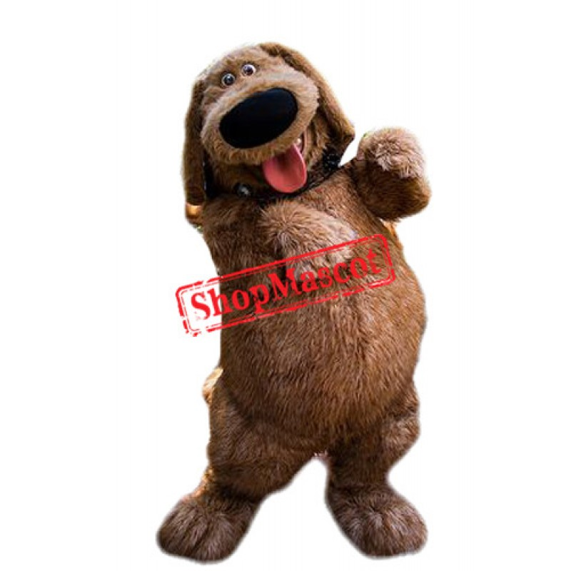 Lovely Furry Brown Dog Mascot Costume