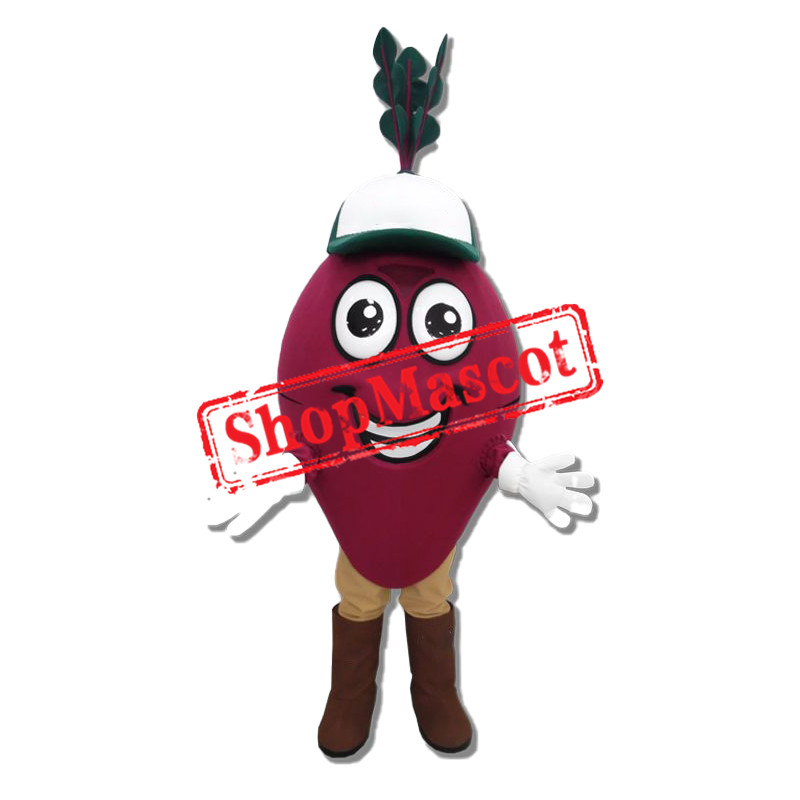 Happy Beet Mascot Costume