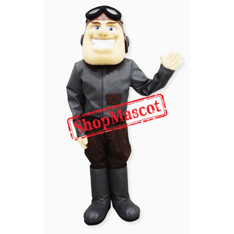 Happy Aviator Mascot Costume
