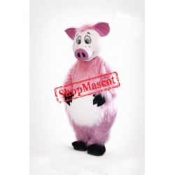 Lovely Pink Pig Mascot Costume