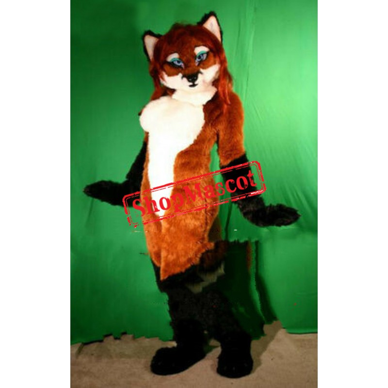 Beautiful Female Fox Mascot Costume