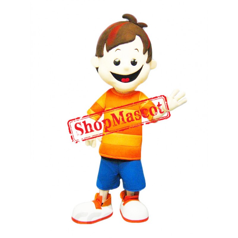 Happy Boy Mascot Costume