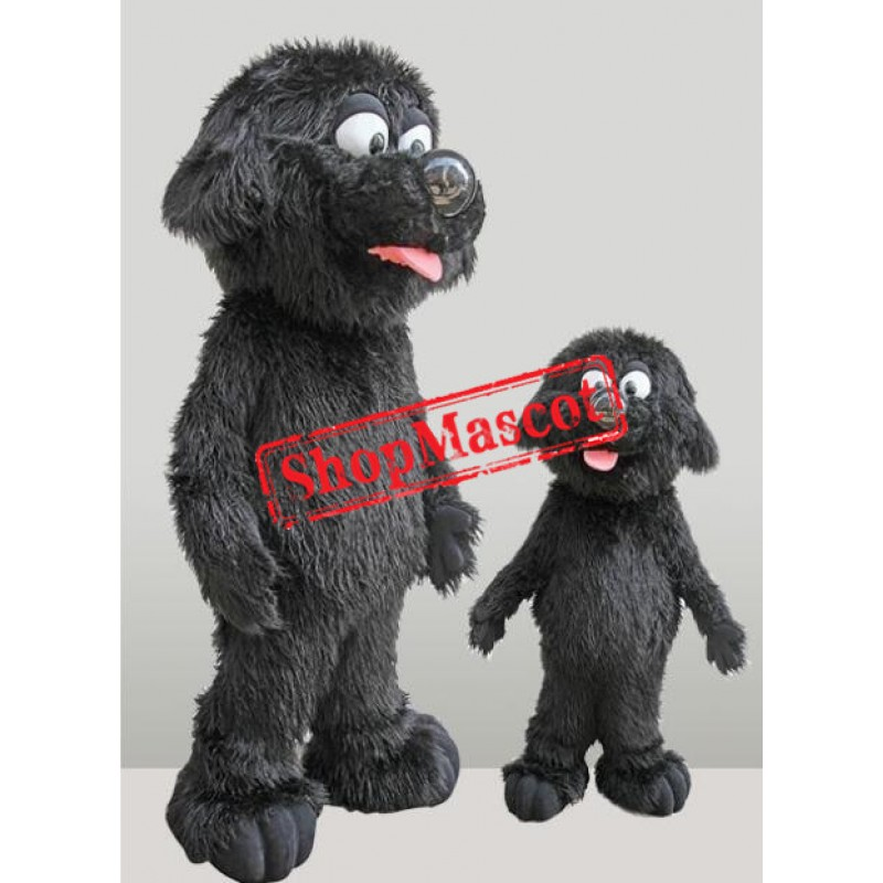 Lovely Black Dog Mascot Costume