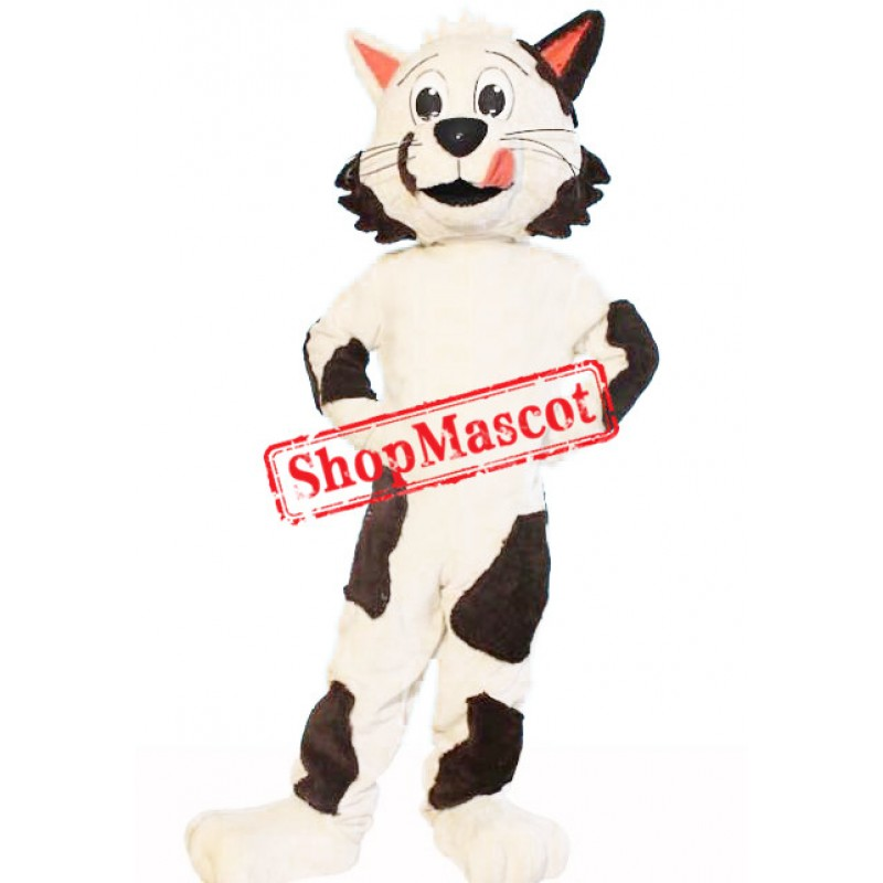 Super Lovely Black & White Cat Mascot Costume