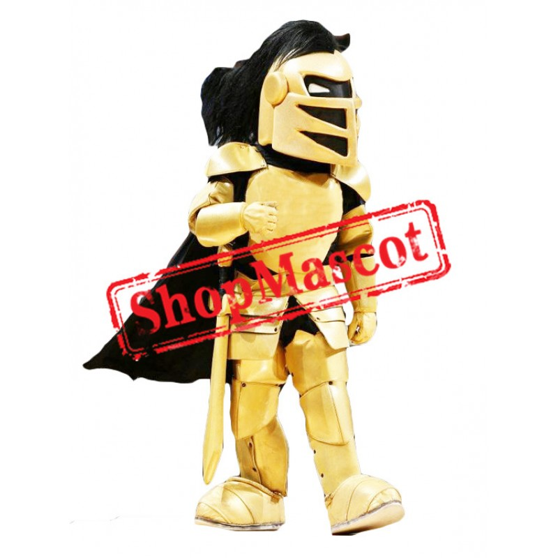 Golden College Knight Mascot Costume