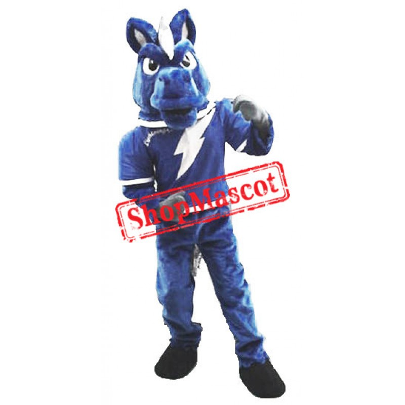 Power Fierce Blue Horse Mascot Costume