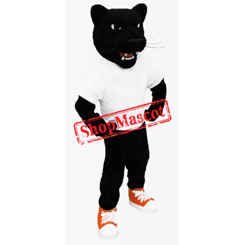 Power Fierce Black Panther Mascot Costume
