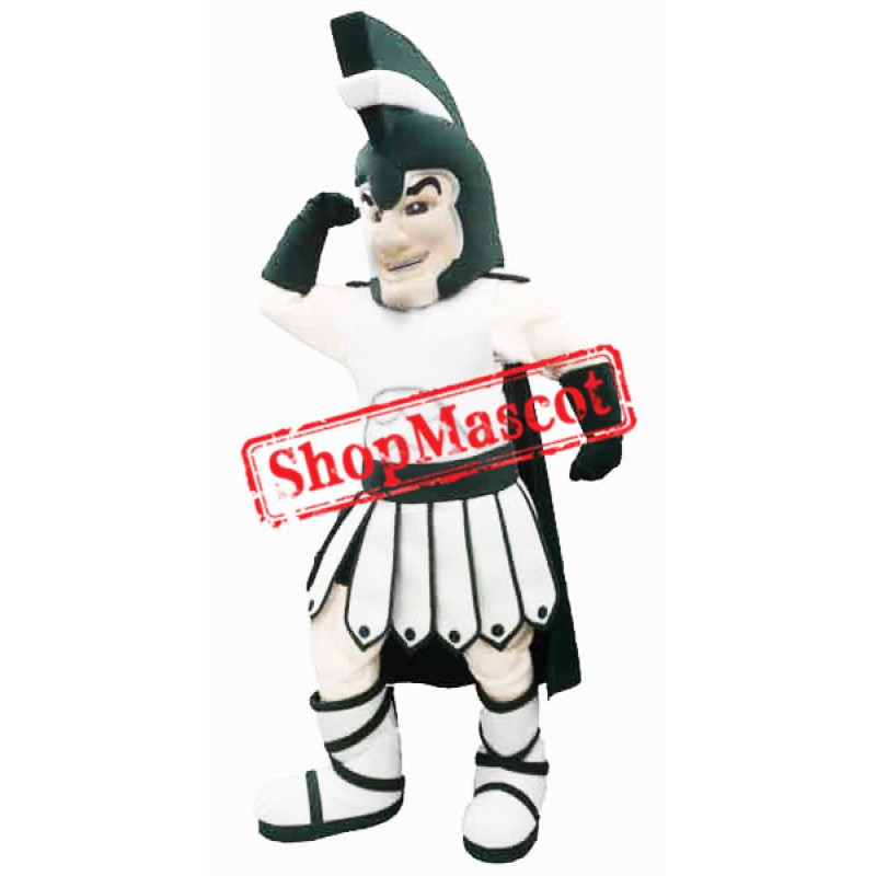 Green College Warrior Mascot Costume