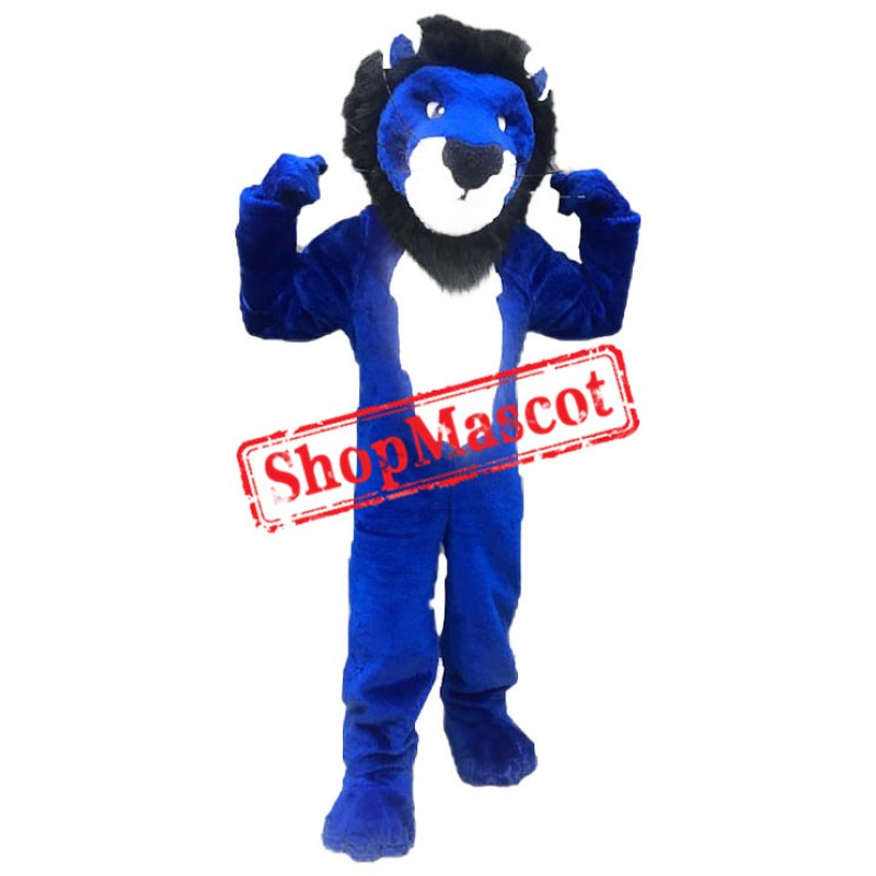College Blue Lion Mascot Costume