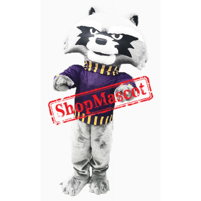College Cute Raccoon Mascot Costume