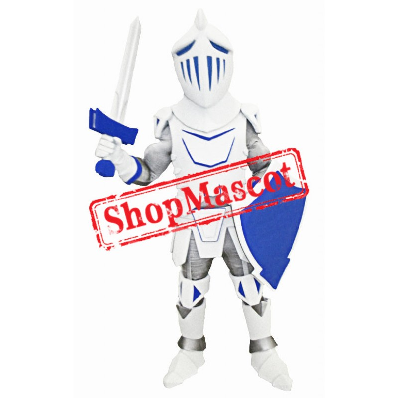 Blue & Grey University Knight Mascot Costume