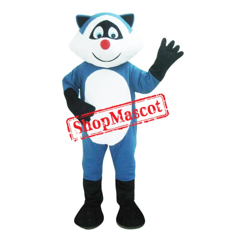 Blue Raccoon Mascot Costume