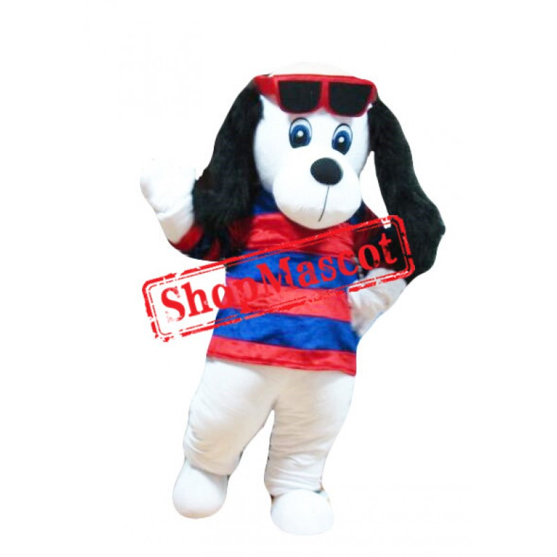 Plush White Dog Mascot Costume