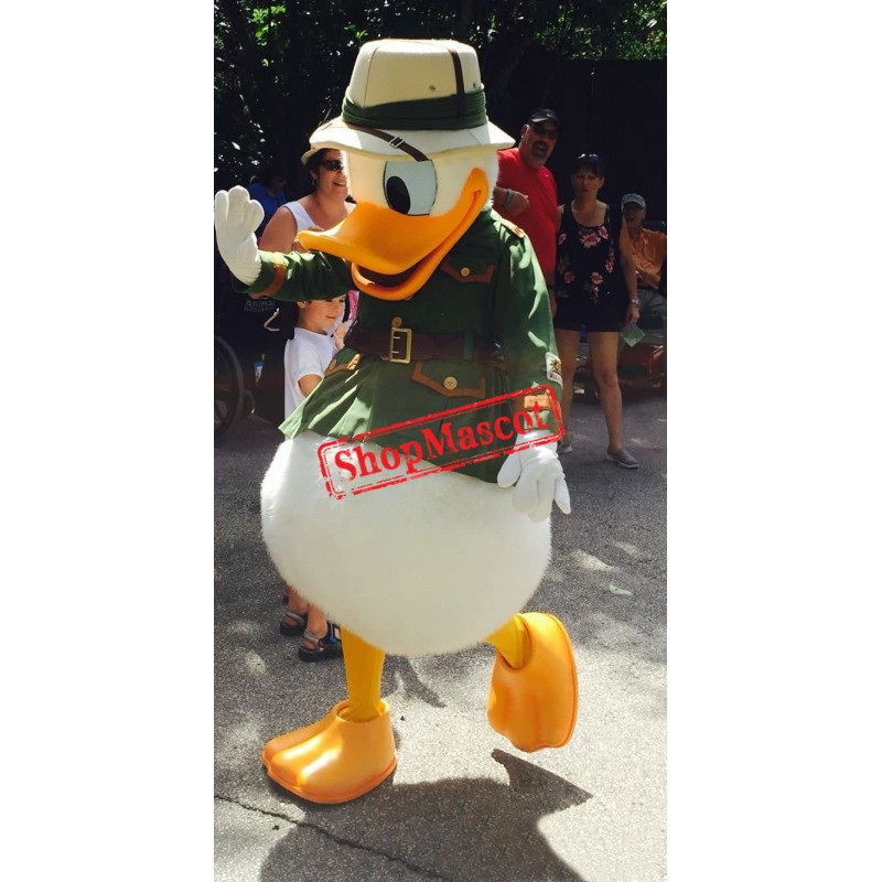 Explorer Donald Duck Mascot Costume