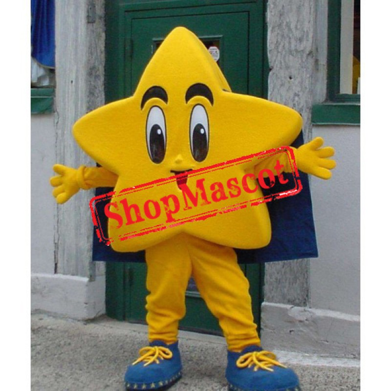 Happy Yellow Star Mascot Costume