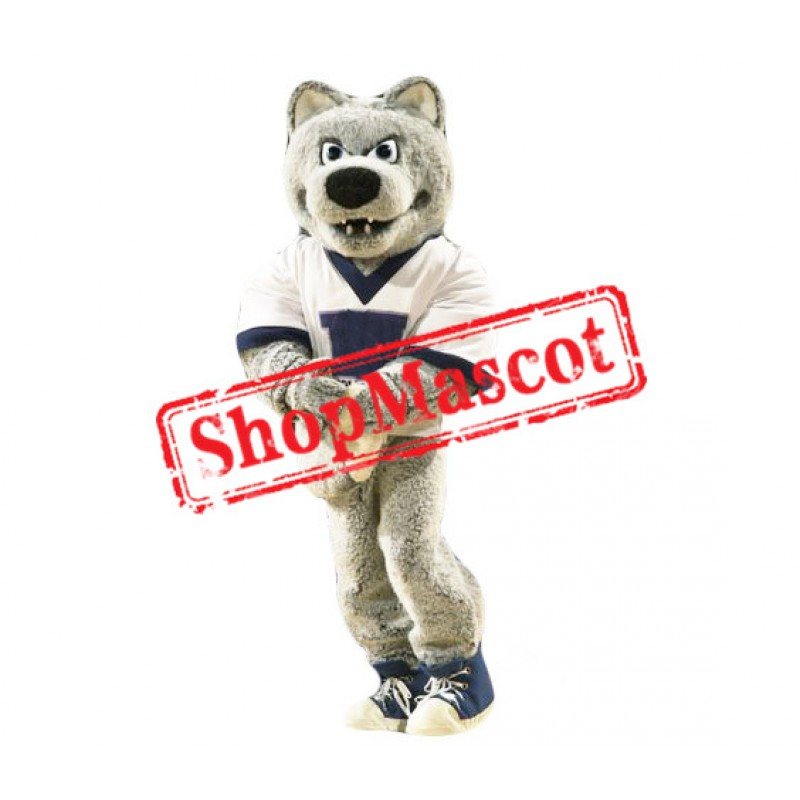 College Grey Wolf Mascot Costume