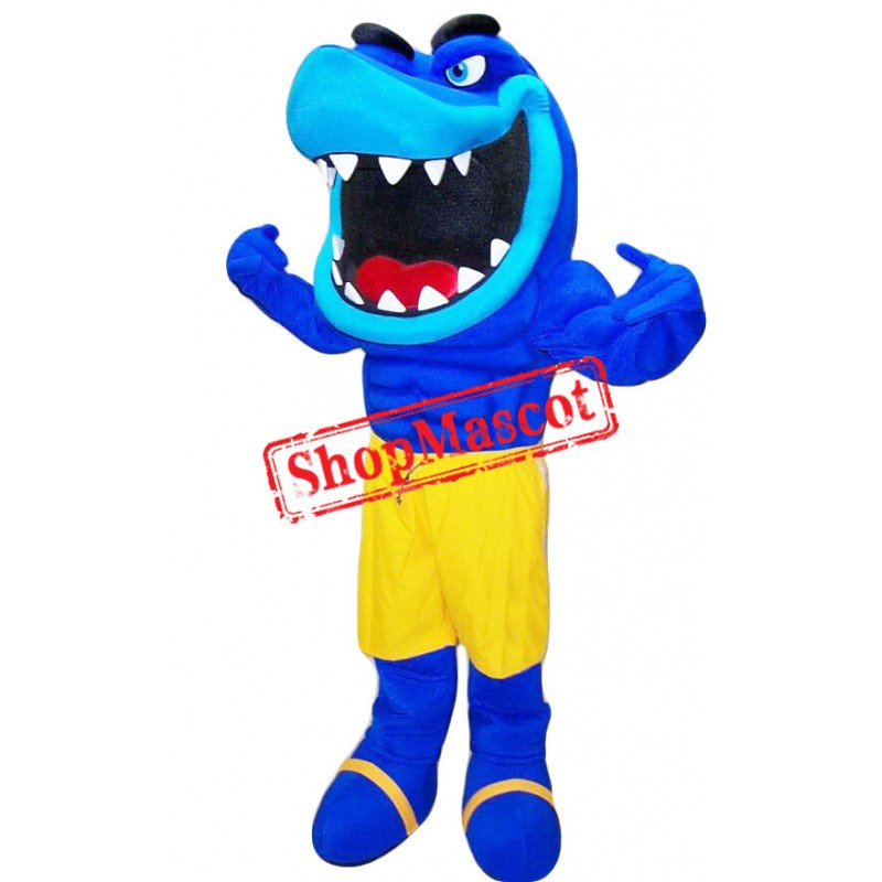 Power Muscular Shark Mascot Costume