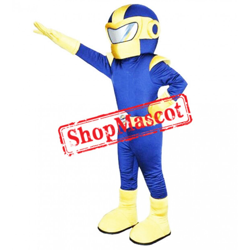 Blue & Yellow Superman Mascot Costume