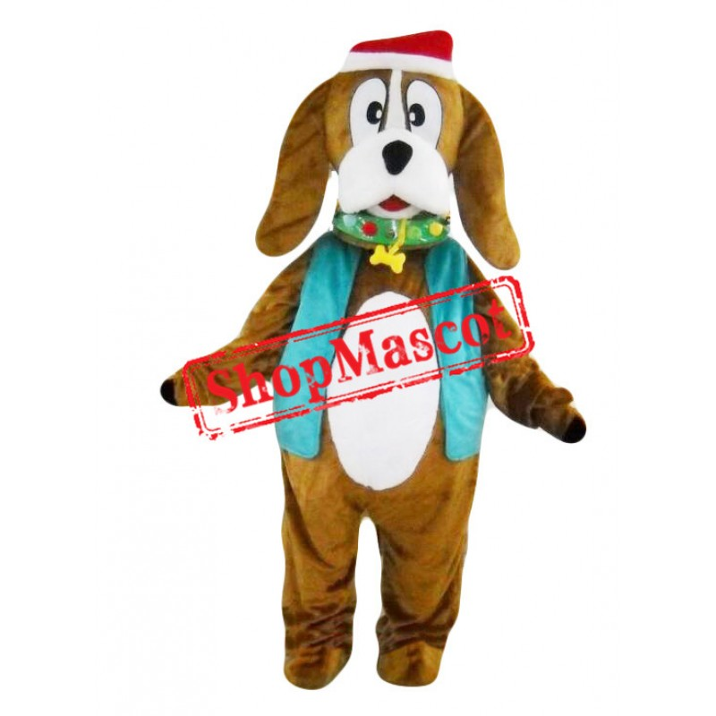 Christmas Santa Dog Mascot Costume