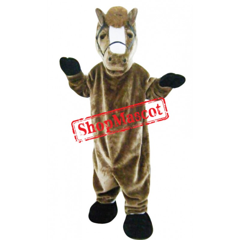 Brown Horse Animal Mascot Costume