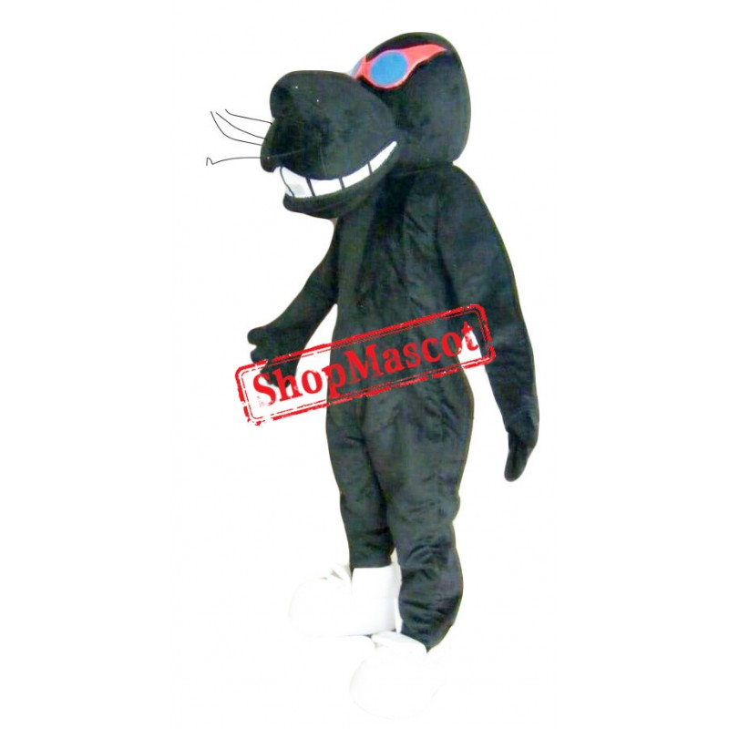 Black Lightweight Leopard Mascot Costume