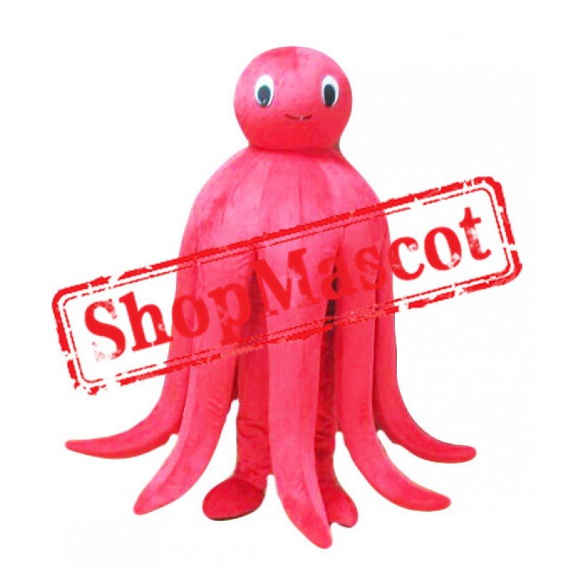 Lovely Red Octopus Mascot Costume