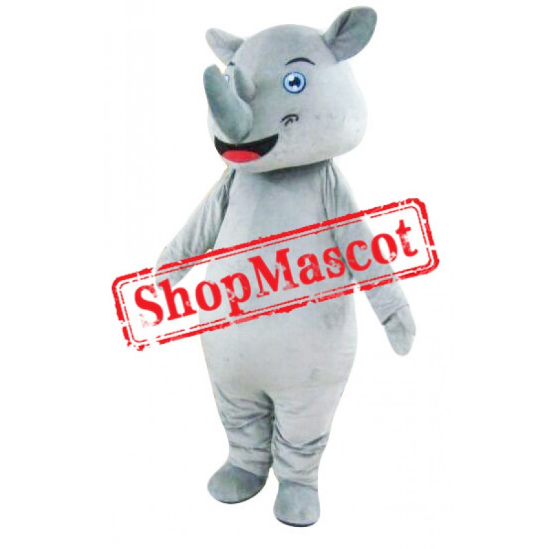 Happy Rhinoceros Mascot Costume