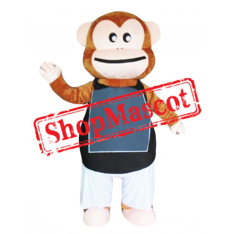 Lovely Brown Monkey Mascot Costume