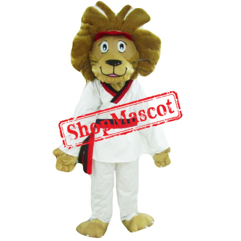 Judo Dress Lion Mascot Costume