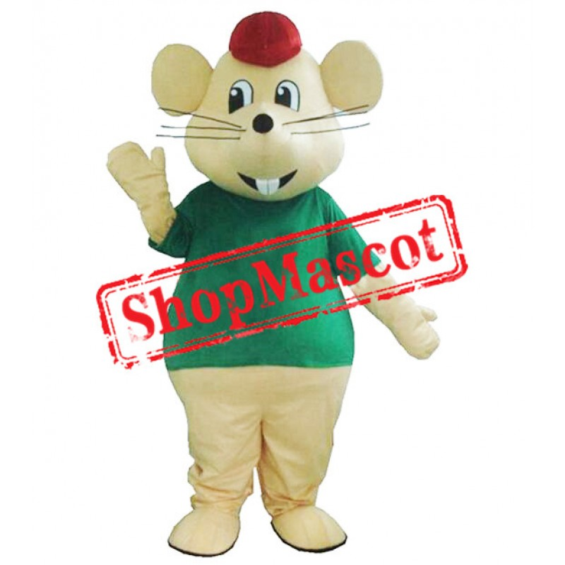 Happy Yellow Mouse Mascot Costume