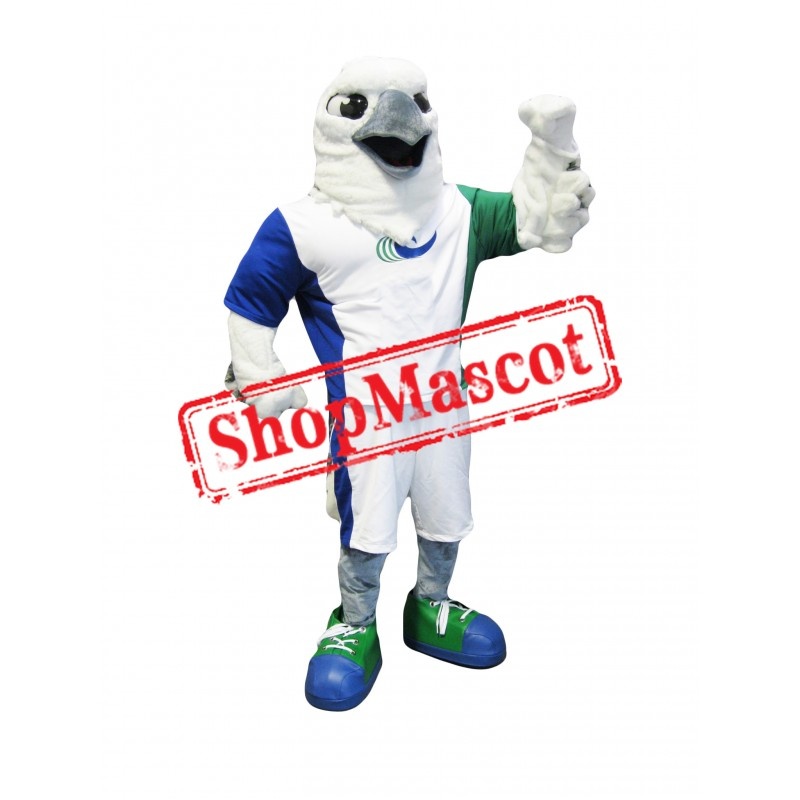 Power White Eagle Mascot Costume