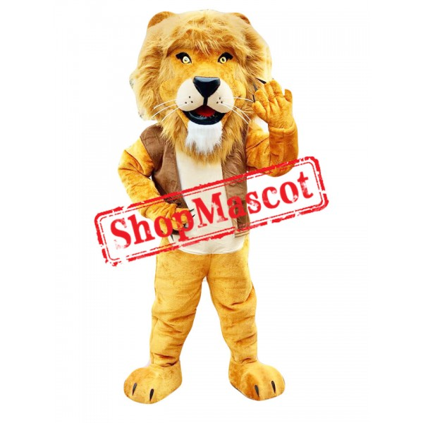 Power Realistic Lion Mascot Costume