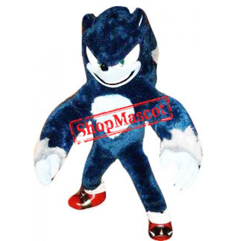 Black Sonic Hedgehog Mascot Costume