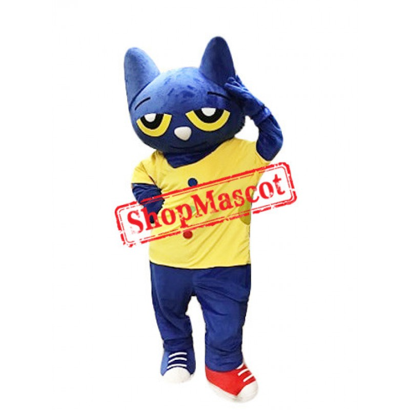 Cute Pete The Cat Mascot Costume