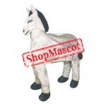 Friendly Two Person Donkey Mascot Costume