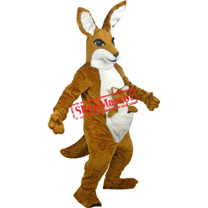 Friendly Deluxe Kangaroo Mascot Costume