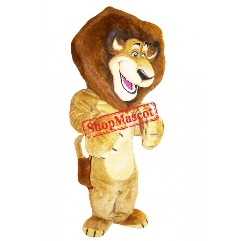 Superb Alex the Lion Mascot Costume