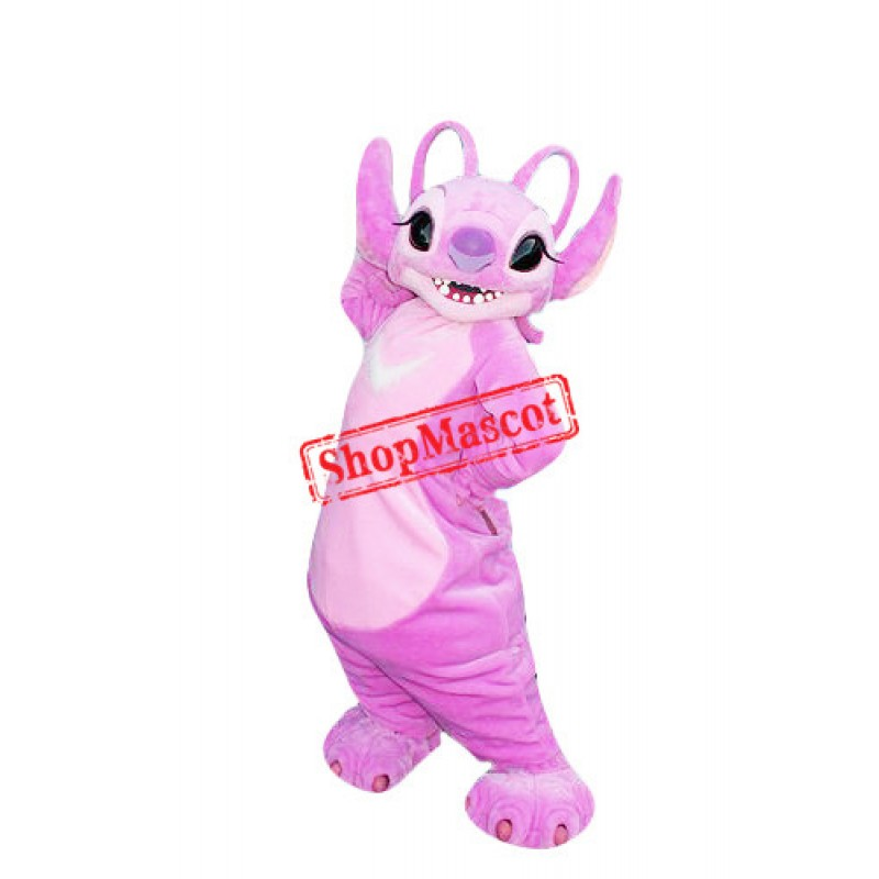 Pink Angel Mascot Costume