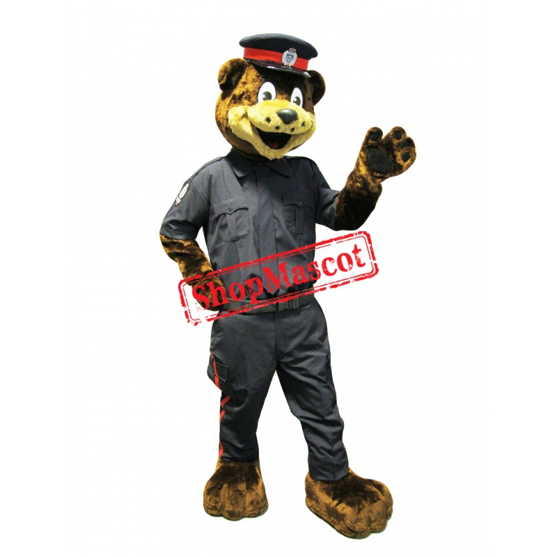 Friendly Police Bear Mascot Costume