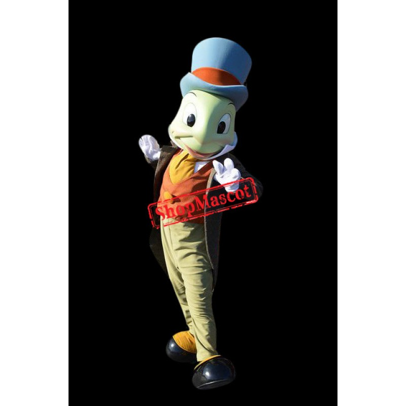 Superb Jiminy Cricket Mascot Costume
