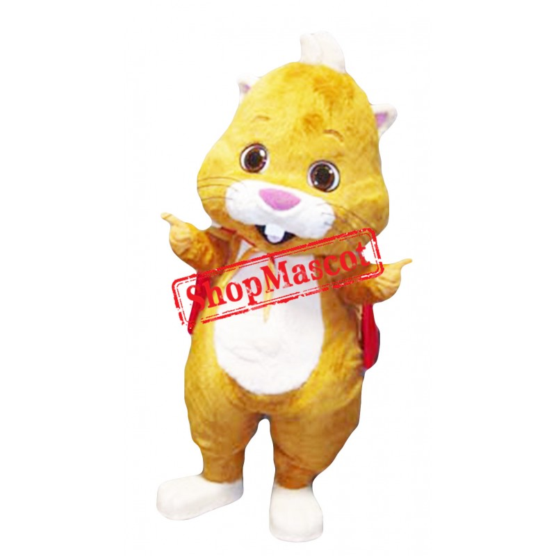 Lovely Yellow Mouse Mascot Costume