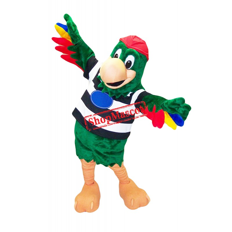 Superb Parrot Mascot Costume